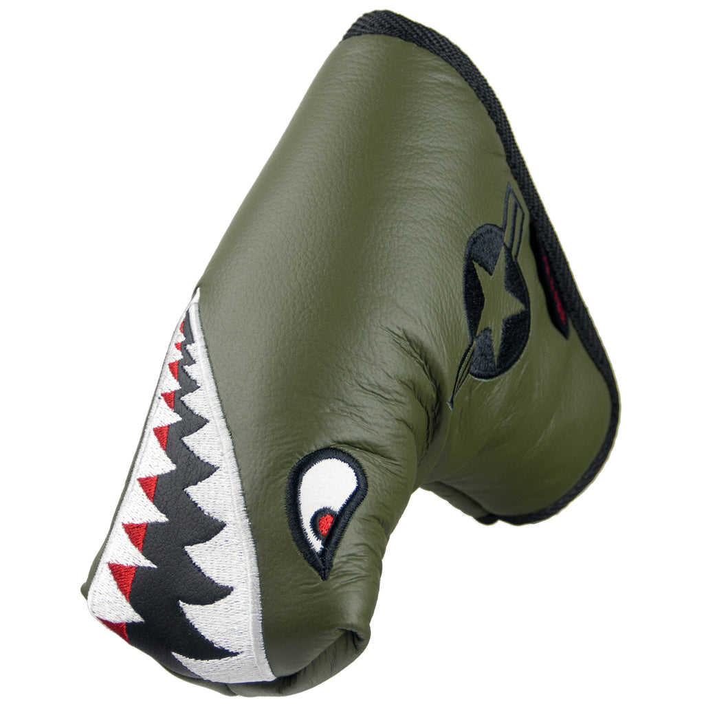 """Bomber/Warhawk"" Premium USA Leather Standard Putter Cover (PRE-ORDER)"