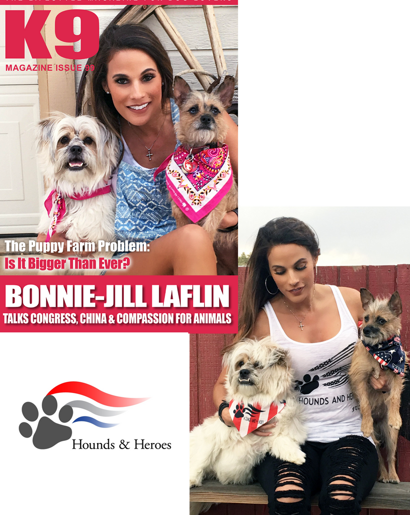 Bonnie-Jill Laflin Featured on K9 Magazines Cover for the 2nd Time!