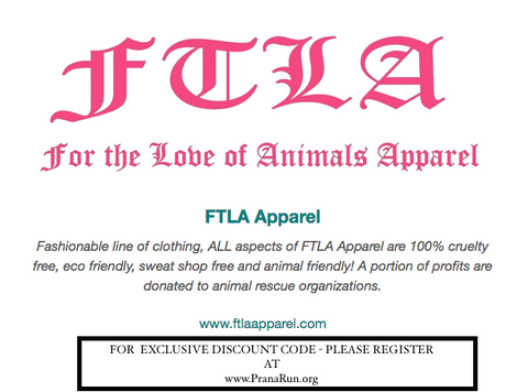 FTLA APPAREL PARTNERS WITH PRANA RUN'S ADOPTION RECOGNITION PROGRAM