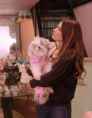 FTLA Apparel Worn by Bonnie-Jill Laflin on VH1's BasketBall Wives LA - Pictured with Rescued Fur Baby Jubilee