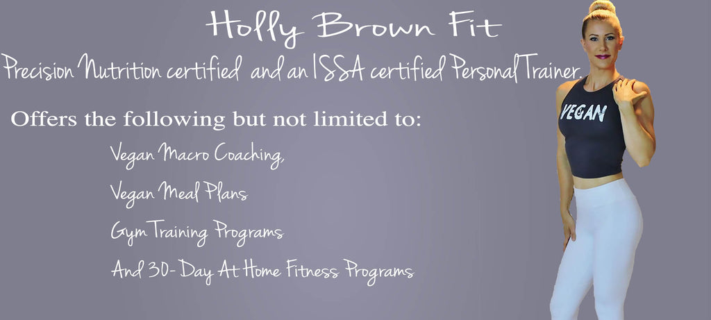 Holly Brown Fit - FTLA Apparel Brand Ambassador and Vegan Fitness Guru & Trainer