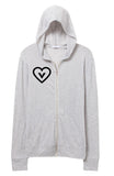 Vegan Heart Unisex Eco Jersey Zip up Hoodie Sweatshirt