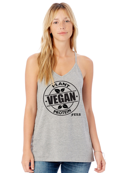 Vegan Plant Protein Strappy T-Back Tank Top