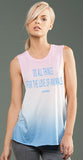 Do All Things For The Love of Animals eco-HYBRID™ Micro Jersey Deep Side Cut Ombre Muscle Tank
