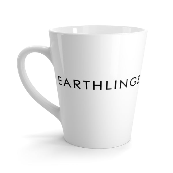FTLA Apparel ~ For The Love of Animals Apparel:  Mug - EARTHLINGS - MAKE THE CONNECTION Latte mug