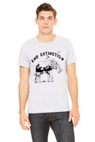 FTLA Apparel ~ For The Love of Animals Apparel:  Unisex T-Shirt - Unisex Light Grey Jersey Short Sleeve Tee - End Extinction