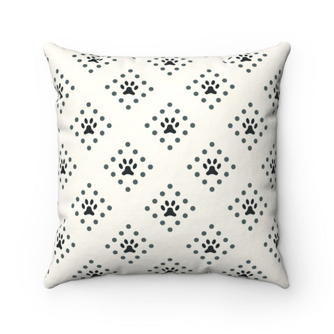 Paw Print Square Pillow