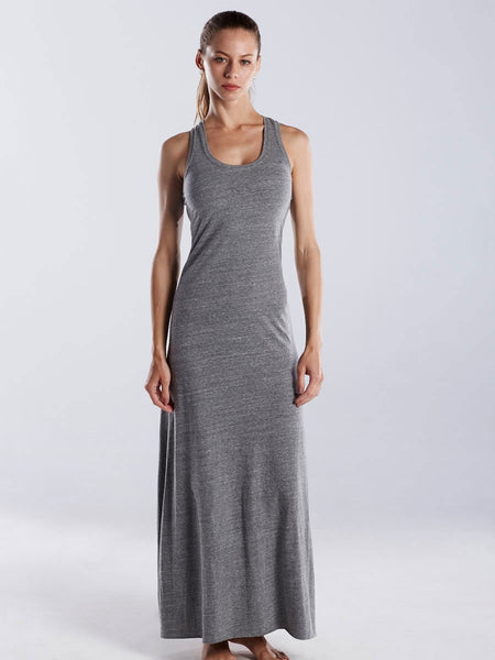 Grey Triblend Racerback Maxi Dress