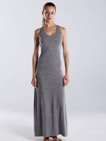 FTLA Apparel ~ For The Love of Animals Apparel:  Dresses - Grey Triblend Racerback Maxi Dress
