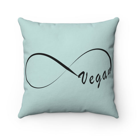 FTLA Apparel ~ For The Love of Animals Apparel:  Home Decor - Infinity Vegan Square Pillow Case and Pillow