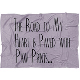 FTLA Apparel ~ For The Love of Animals Apparel:  Blankets - The Road To My Heart Microfiber Fleece Blanket