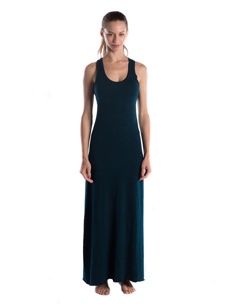 FTLA Apparel ~ For The Love of Animals Apparel:  Dresses - Blue Green Triblend Racerback Maxi Dress