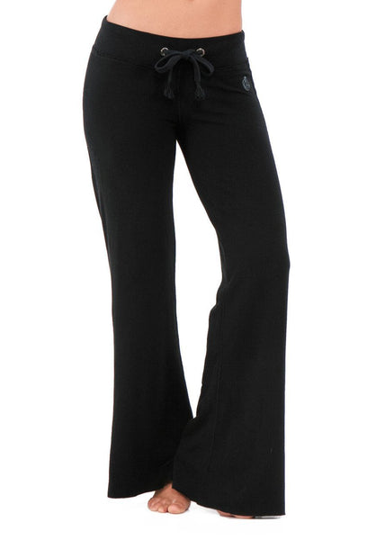 FTLA Apparel ~ For The Love of Animals Apparel:  Yoga Pants - Eco Chic Bamboo Palazzo Pants in Black