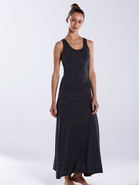 FTLA Apparel ~ For The Love of Animals Apparel:  Dresses - Charcoal Triblend Racerback Maxi Dress