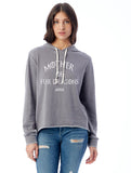FTLA Apparel ~ For The Love of Animals Apparel:  Women's Sweatshirt - Mother of Fur Dragons French Terry Burnout Hooded Sweatshirt
