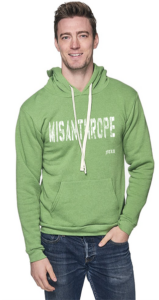 FTLA Apparel ~ For The Love of Animals Apparel:  Unisex Sweatshirts - PRE-ORDER Eco Kiwi Unisex Organic RPET Fleece Pullover Hoody – MISANTHROPE - XS-2XL