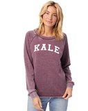 FTLA Apparel ~ For The Love of Animals Apparel:  Women's Sweatshirt - KALE French Terry Burnout Sweatshirt