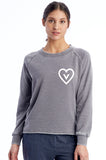 Vegan Heart French Terry Burnout Sweatshirt