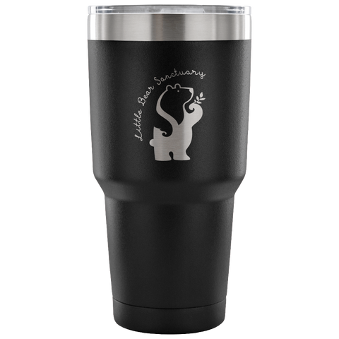 FTLA Apparel ~ For The Love of Animals Apparel:  Tumblers - Little Bear Sanctuary Laser Etched 30 Ounce Tumbler