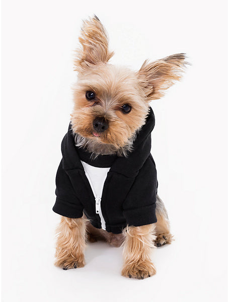 FTLA Apparel ~ For The Love of Animals Apparel:  Doggy Clothes - Security Eco Fleece Doggy Zip Hoodie