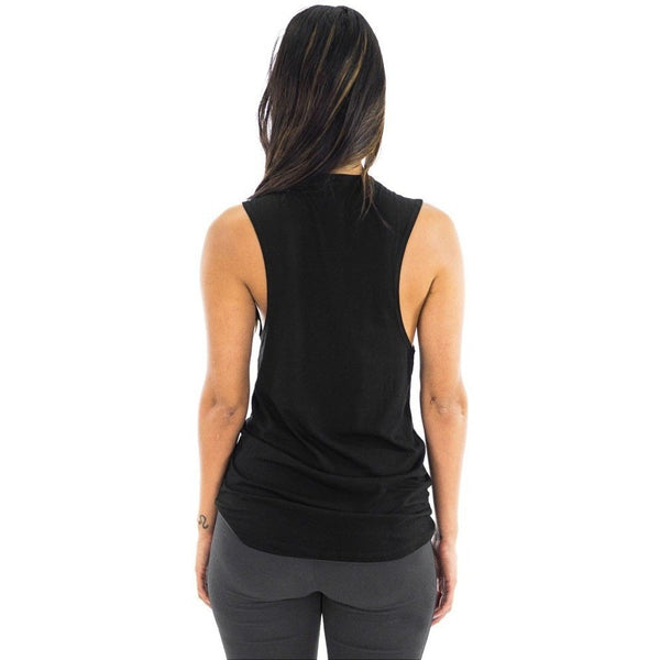 FTLA Apparel - Bamboo Organic, Anti-Microbial, Green & Biodegradable Muscle Tank - My Body is A Temple Not A Tomb - Women's Muscle Tank