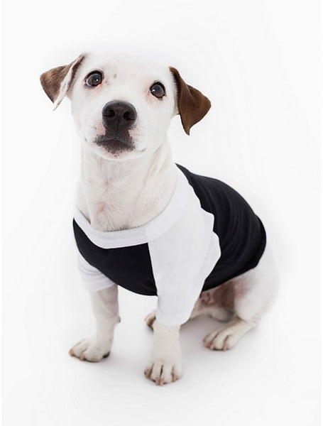 FTLA Apparel Beagle Freedom Project Cotton 3/4 Sleeve Doggy Baseball Raglan shirt - BFP FTLA Apparel-Doggy Clothes-FTLA Apparel-XS-Black with White Sleeves-For The Love of Animals Apparel