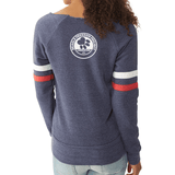 FTLA Apparel Beagle Freedom Project FTLA Apparel Eco Fleece Off The Shoulder Sweatshirt Life Love Liberty-Off The Shoulder Pullover-FTLA Apparel-Small with Logo on Back-For The Love of Animals Apparel