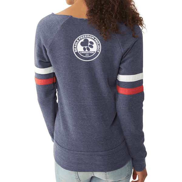 FTLA Apparel - Beagle Freedom Project FTLA Apparel Eco Fleece Off The Shoulder Sweatshirt Life Love Liberty-Off The Shoulder Pullover-For The Love of Animals Apparel