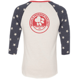 FTLA Apparel ~ For The Love of Animals Apparel:  Unisex BaseBall Tee - Beagle Freedom Project  FTLA Apparel Unisex Eco Jersey Stars Baseball Tee - Life Love Liberty