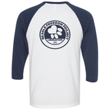 FTLA Apparel Beagle Freedom Project FTLA Apparel Unisex Navy Sleeves Baseball Tee Life Love Liberty-Unisex BaseBall Tee-FTLA Apparel-XS-With BFP Logo on Back in Navy ink-For The Love of Animals Apparel