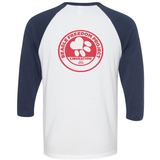 FTLA Apparel Beagle Freedom Project FTLA Apparel Unisex Navy Sleeves Baseball Tee Life Love Liberty-Unisex BaseBall Tee-FTLA Apparel-XS-With BFP Logo on Back in Red ink-For The Love of Animals Apparel