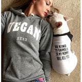 FTLA Apparel ~ For The Love of Animals Apparel:  Doggy Clothes - Cotton 3/4 Sleeve Dog Raglan Tee - Be Kind To Animals OR My Mommy Will Kill You!