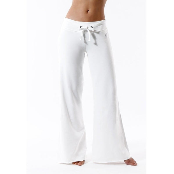 FTLA Apparel - Eco Chic Bamboo Palazzo Pants in White - Yoga Pants