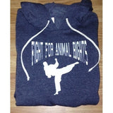 FTLA Apparel ~ For The Love of Animals Apparel:  Unisex Sweatshirts - Eco Fleece Eco True Navy Unisex Hooded Pullover Sweatshirt - Fight For Animal Rights