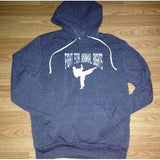 FTLA Apparel Eco Fleece Eco True Navy Unisex Hooded Pullover Sweatshirt - Fight For Animal Rights-Unisex Sweatshirts-FTLA Apparel-XS-White-For The Love of Animals Apparel