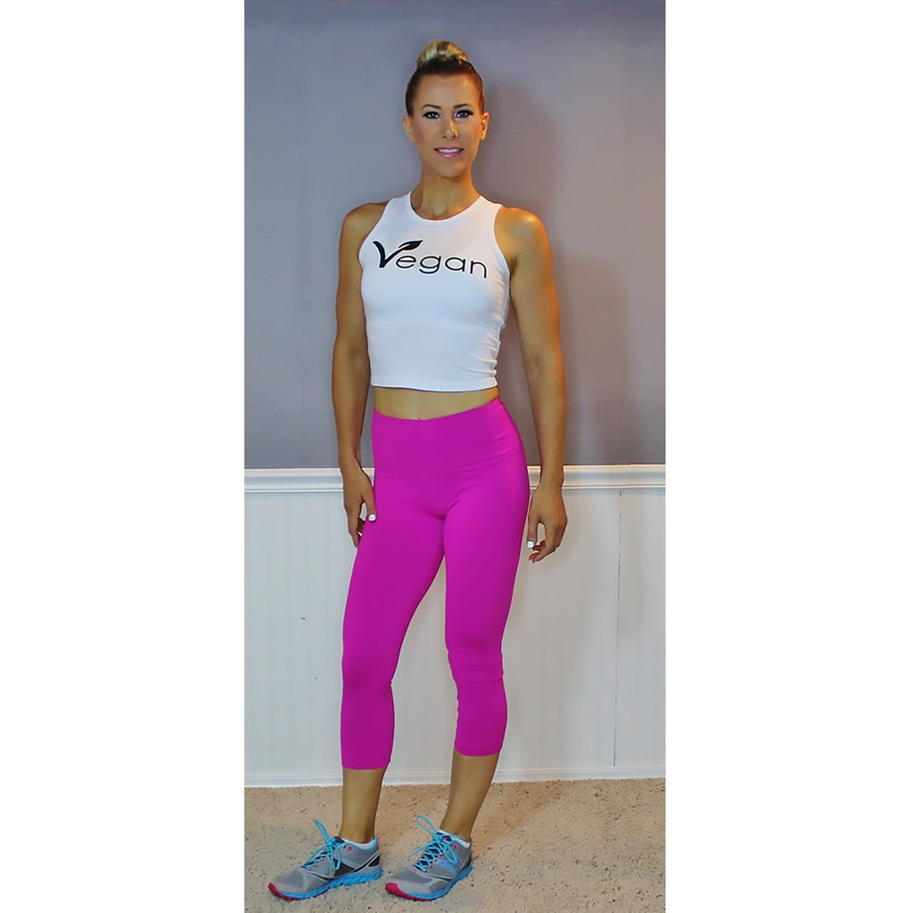 cc88a5e0e83 eco-HYBRID™ Jersey Fitted + Cropped Muscle Tank - New Vegan Leaf– FTLA  Apparel