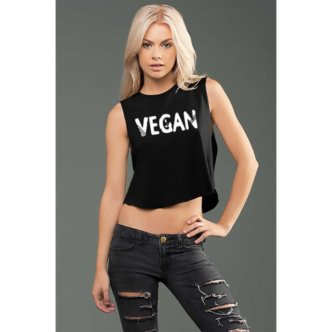 FTLA Apparel eco-HYBRID™ Micro Jersey Cropped Muscle Tank-Muscle Tank-FTLA Apparel-Small-Black-For The Love of Animals Apparel