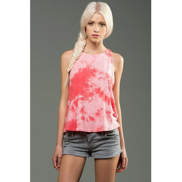 FTLA Apparel eco-HYBRID™ Micro Jersey Marble Dye High Neck Tank - Blank or Choose from My designs-Women's Muscle Tank-FTLA Apparel-Small-Hot Pink-For The Love of Animals Apparel