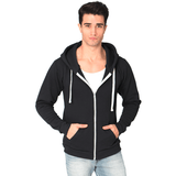 FTLA Apparel ~ For The Love of Animals Apparel:  Unisex Sweatshirts - Eco True Black Unisex Organic RPET Fleece Zip Hoody - Grassy Vegan