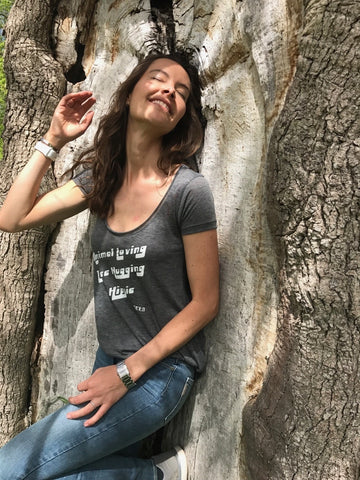 FTLA Apparel Flowy Burnout Melange Tee - Animal Loving Tree Hugging Hippie-Women's Tee's-FTLA Apparel-Small-Dark Heather Grey-For The Love of Animals Apparel
