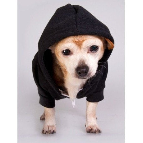 FTLA Apparel FTLA Apparel Eco Fleece Doggy Zip Hoodie XS-2XL - Choose a design-Doggy Clothes-FTLA Apparel-XS-Black-I Heart My Mom-For The Love of Animals Apparel