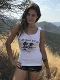 FTLA Apparel ~ For The Love of Animals Apparel:  Tank Top - FTLA Apparel eco-HYBRID® Women's Fine Jersey Tank - Love Me Don't Eat Me!