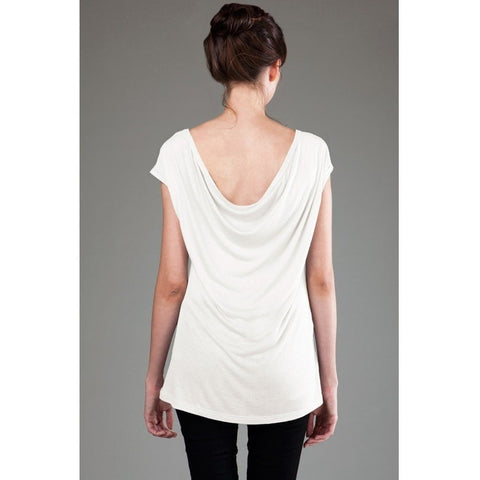 FTLA Apparel FTLA Apparel - Eco MicroModal® Fine Jersey Cap Sleeve Drop Back Top - Blank Garment-Drop Back-FTLA Apparel-Small-White-For The Love of Animals Apparel