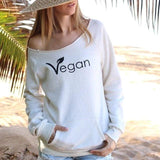 FTLA Apparel ~ For The Love of Animals Apparel:  Off The Shoulder Sweatshirt - FTLA Apparel Eco Wheat Eco Fleece Off the Shoulder Sweatshirt – Vegan Leaf