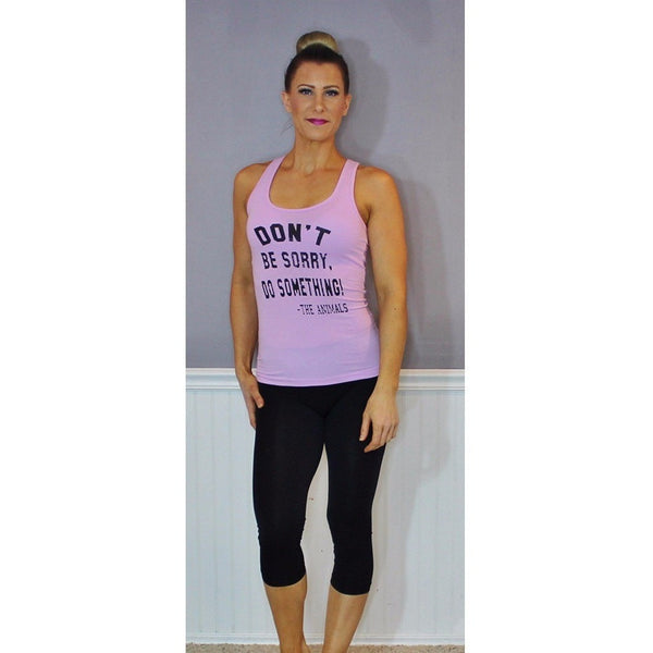 FTLA Apparel FTLA Apparel Jersey Racerback Tank Top - Don't Be Sorry, Do Something - The Animals!-Tank Top-FTLA Apparel-XS-Lilac-For The Love of Animals Apparel