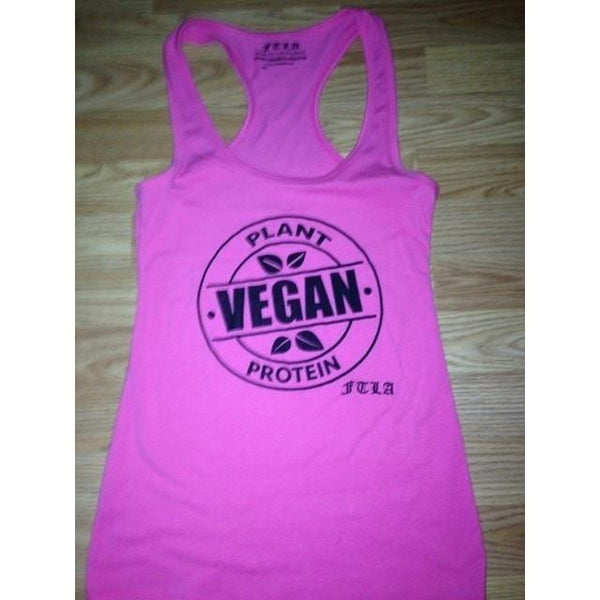 FTLA Apparel - FTLA Apparel Jersey Racerback Tank Top - Vegan Plant Protein-Tank Top-For The Love of Animals Apparel