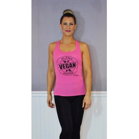FTLA Apparel ~ For The Love of Animals Apparel:  Tank Top - FTLA Apparel Jersey Racerback Tank Top - Vegan Plant Protein