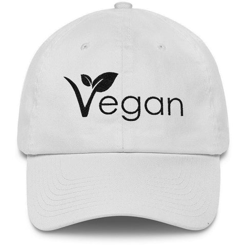 FTLA Apparel FTLA Apparel Low Profile Baseball Hat - Vegan Leaf-Hats-FTLA Apparel-White-For The Love of Animals Apparel