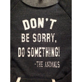 FTLA Apparel ~ For The Love of Animals Apparel:  Off The Shoulder Sweatshirt - FTLA Apparel Off the Shoulder Striped Sleeve Sweatshirt – Don't Be Sorry, Do Something! - The Animals