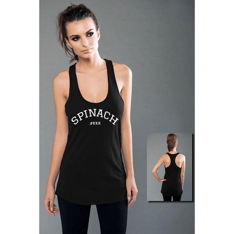 FTLA Apparel - FTLA Apparel SPINACH eco-HYBRID™ Micro Jersey Racerback Tank Top-Tank Top-For The Love of Animals Apparel